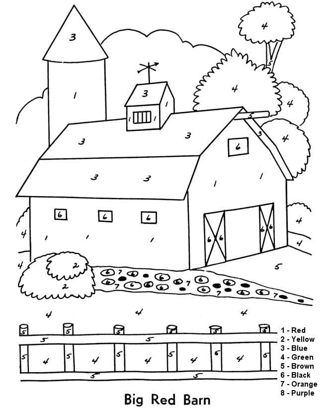 Printable Color By Number Multiplication Coloring Pages For Kids Coloring For Kids Color By Numbers