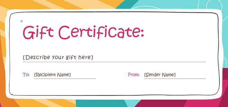 Free Gift Certificate Templates You Can Customize Free Gift Certificate Template Free Printable Gift Certificates Gift Certificate Template Word