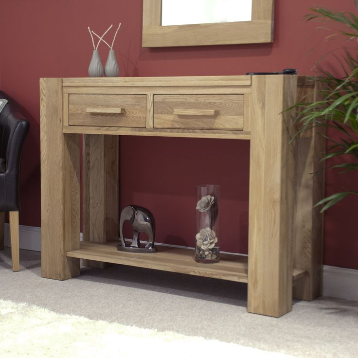 Lifestyle Solid Oak Console Table - Console Tables - Hallway