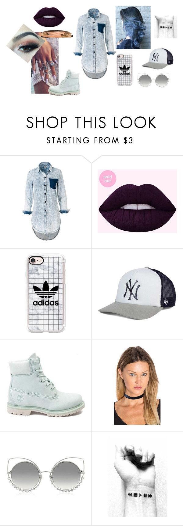 Look_28 by pirigoticafofis on Polyvore featuring moda, Timberland, Vanessa Mooney, '47 Brand, Casetify and Marc Jacobs