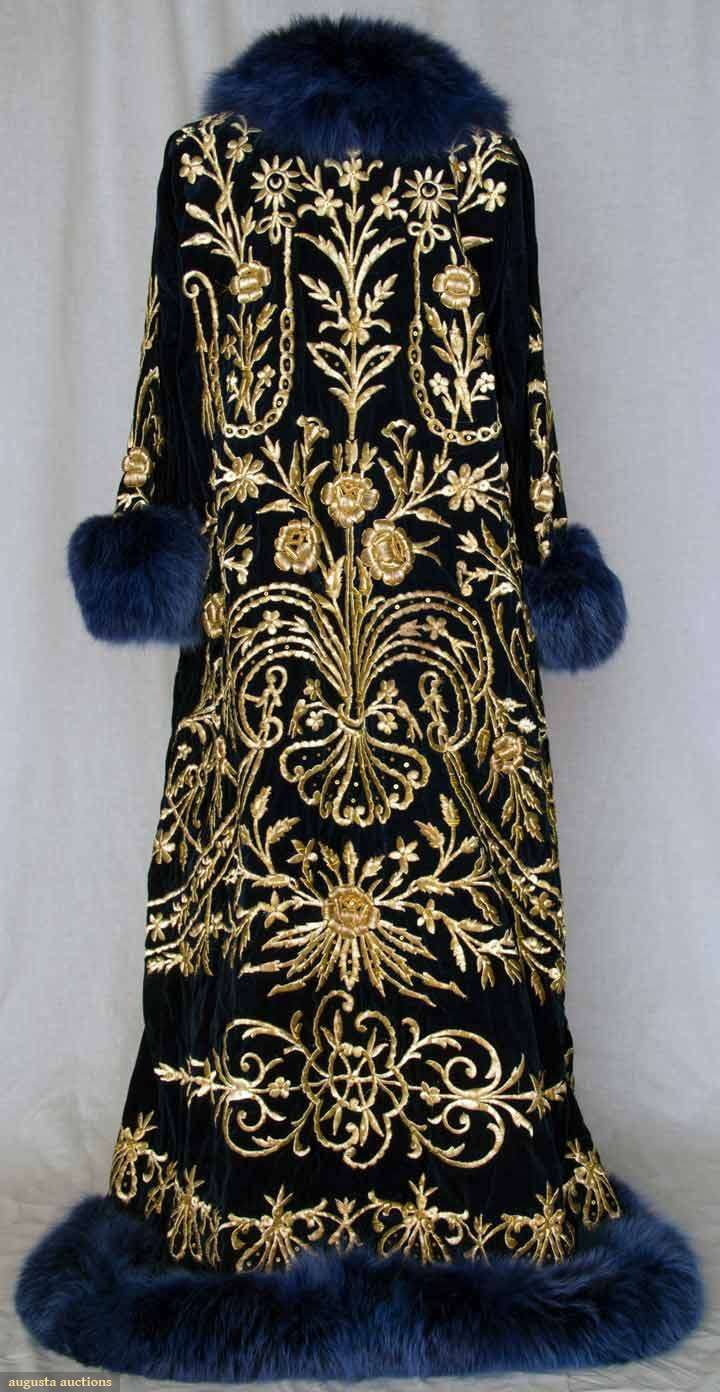 Embroidered caftan, Turkish, 19th century.  Bathrobes are so passe.