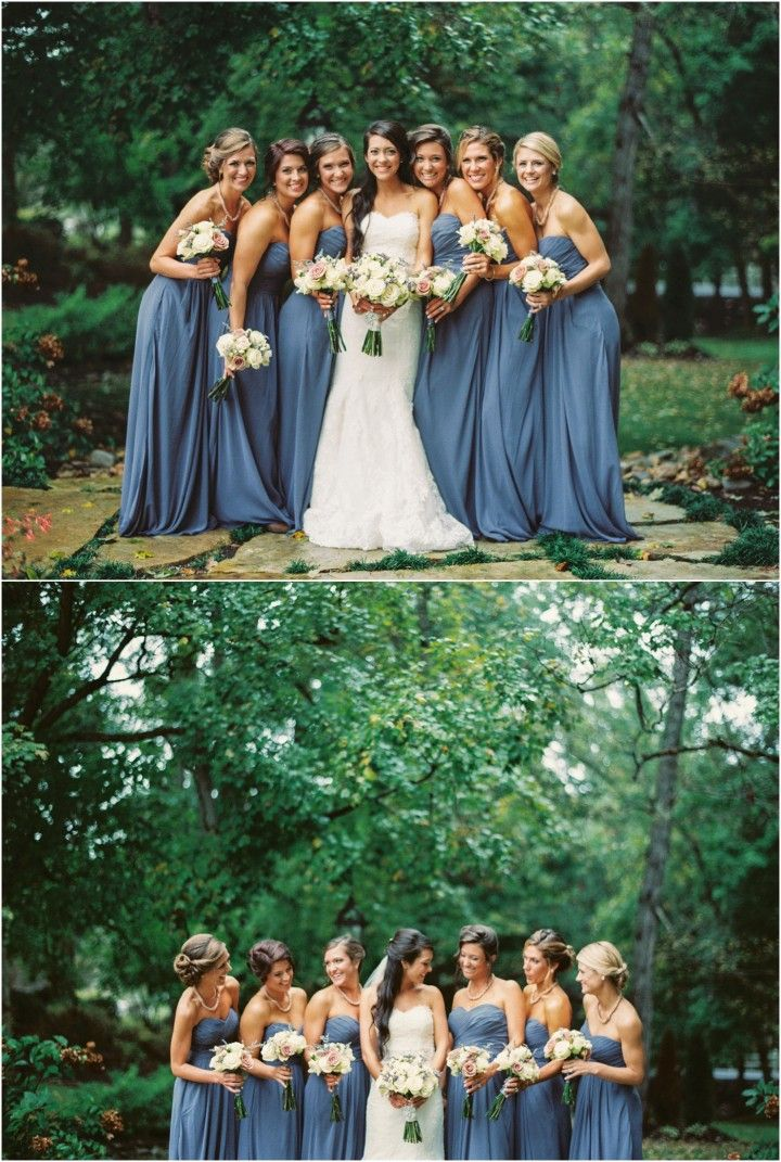Pretty bridesmaids! A fall wedding at Hunter Valley Farm in Knoxville TN - click to view more!