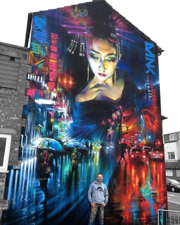Sokaklara Birbirinden Müthiş Portre ve Şehir Fotoğraflarını Resmeden Sanatçı: Dan Kitchener Sanatlı Bi Blog 18