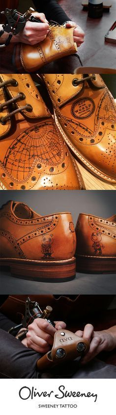 If you want to leave a lasting legacy, sometimes you have to make a mark. With our leather tattoo service, you can do exactly that. All tattoos are created by hand using a real tattoo gun and ink, and can be applied to any Oliver Sweeney tan leather item.