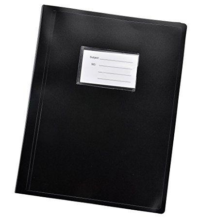 Arpan Black A4 Display Book Folder Flexible Cover portfolio - 104Pockets 208/Sides