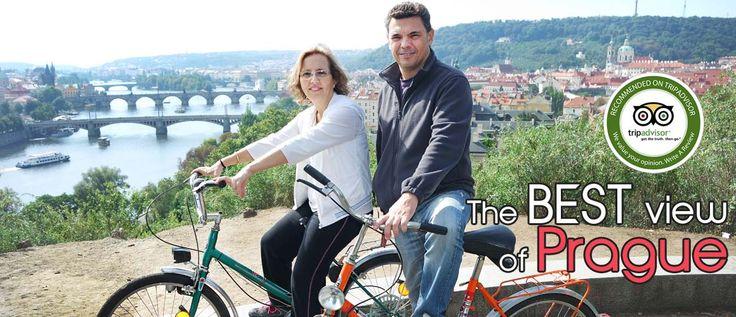 Enjoy the best view of Prague on historical bikes!