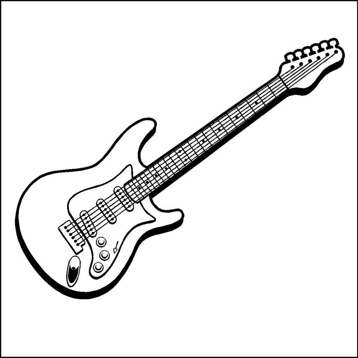 Coloring Book Pages Guitar Best 25 Electric For Kids Ideas Only