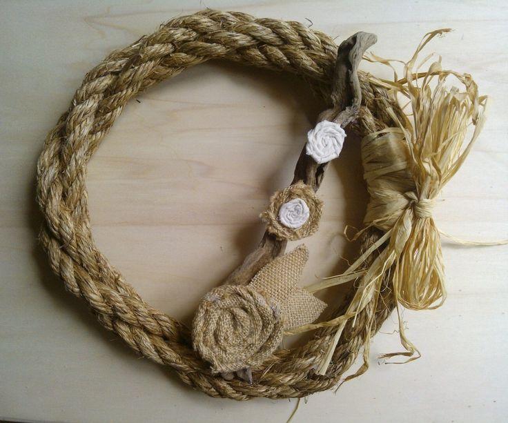 wreath rope burlap flower