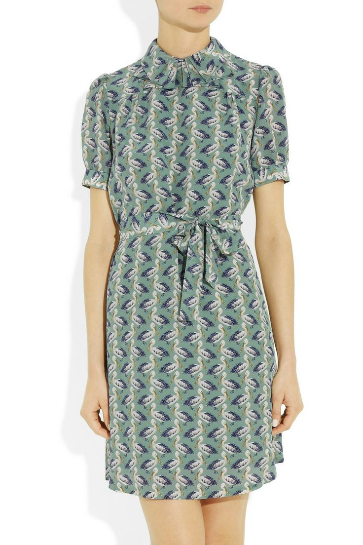 Paul & Joe | Lamouete pelican-print silk-crepe dress | NET-A-PORTER.COM