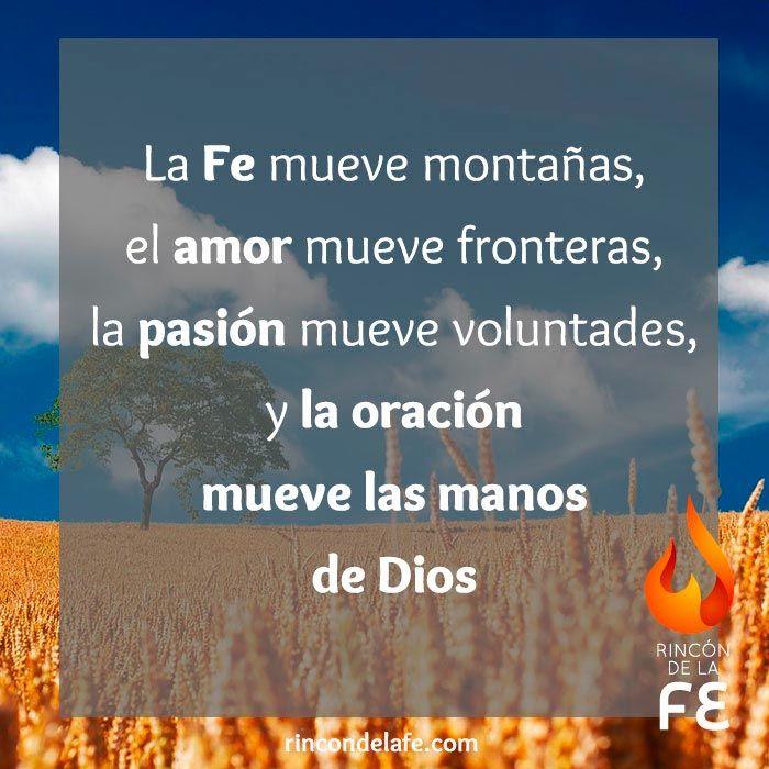 Fe, amor, pasión y oración. El secreto de la #vida #cristiana. #Dios #God #amor #oración #sentimientos #cristo #fe