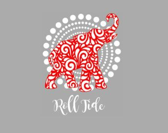 Alabama Roll Tide Elephant SVG Studio Eps Pdf PNG cutting file - Edit Listing - Etsy