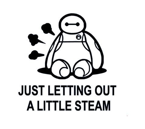 Baymax letting out some steam decal instant pot decal crock pot decal by