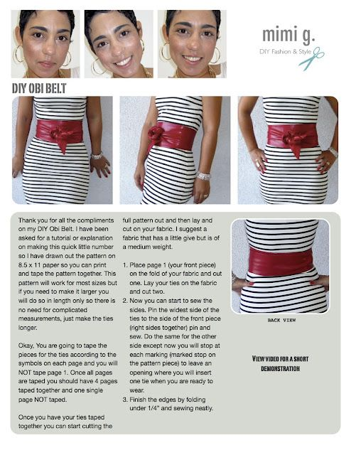 DIY obi belt - gorgeous!  http://mimigoodwin.blogspot.com/2012/03/diy-obi-belt-tutorial.html