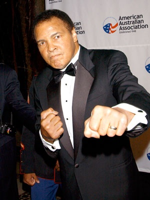 Muhammad Ali dom and me sat behind him and his wife on a flight from chicago. got to talk to him and he's a super great guy