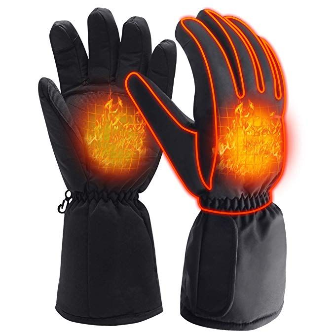 Winter Warm Electric Heated Gloves Rechargeable Battery Powered Men Women Snow Gloves Liners Extreme Cold Weather Gloves Heat Heated Gloves Warm Gloves Gloves