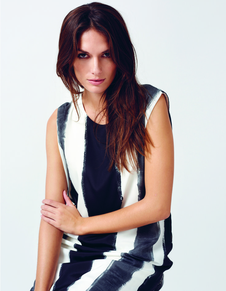 soyaconcept - dress - blouse - black and white