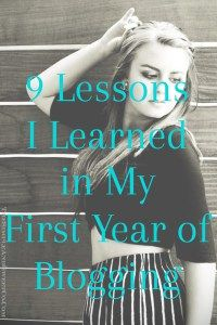 9 Lessons I've Learned in a Year of Blogging – The S&&S Co.