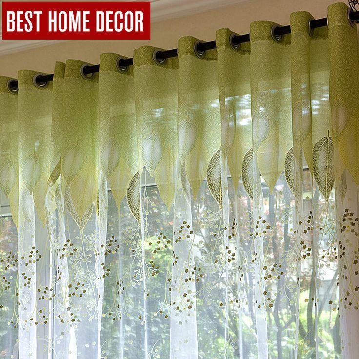 Ucuz BHD sheer tül pencere perdeleri oturma odaya yatak odası mutfak modern tül perdeler için yeşil yapraklar kumaş jaluzi perdeler, Satın Kalite Perdeler doğrudan Çin Tedarikçilerden: BHD sheer tül pencere perdeleri oturma odaya yatak odası mutfak modern tül perdeler için yeşil yapraklar kumaş jaluzi perdeler