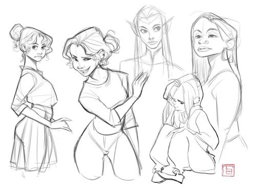 TB . Character Drawing Illustration