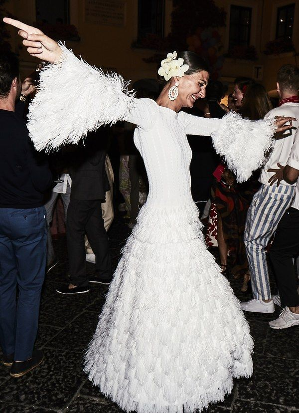 modern crepe with showstopping feathers for the bride who loves to cha cha | image via: w magazine