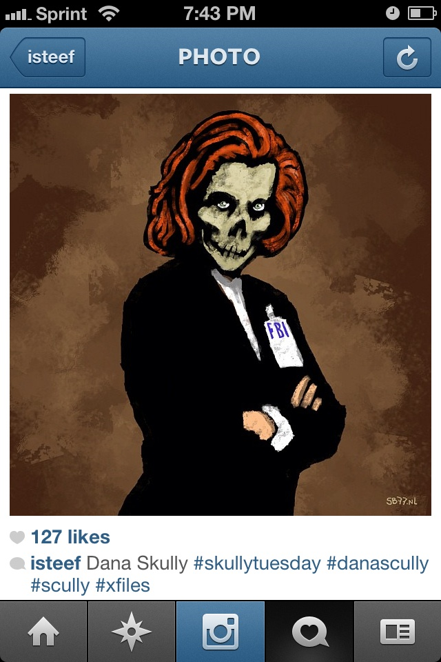 X Files Scully http://instagr.am/p/O37xD3iP8v/X File