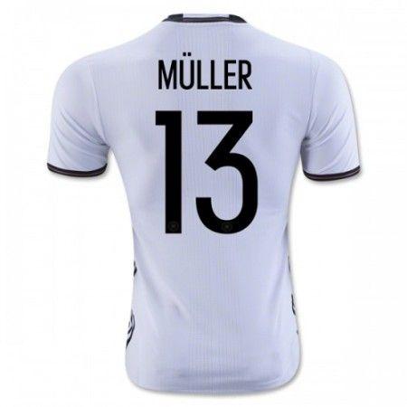 Tyskland 2016 Muller 13 Hjemmedrakt Kortermet.  http://www.fotballpanett.com/tyskland-2016-muller-13-hjemmedrakt-kortermet-1.  #fotballdrakter