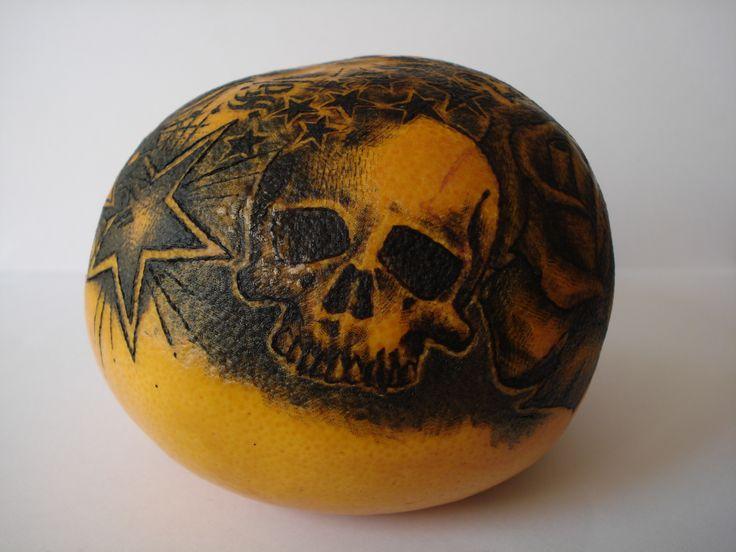 tattooed orange