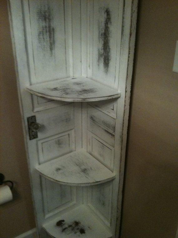 Corner Cabinet made from Old Doors by WoodWorksbyLarry on Etsy, $200.00