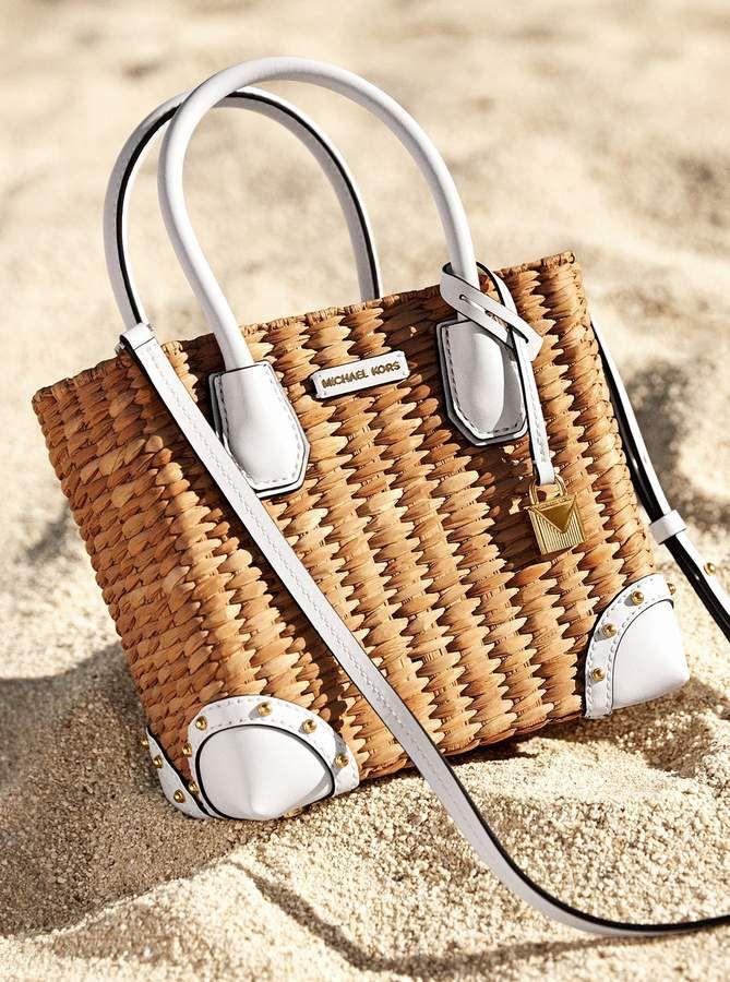 f6b6637854ff Michael Michael Kors Malibu Woven Straw Crossbody | Bags | Straw ...