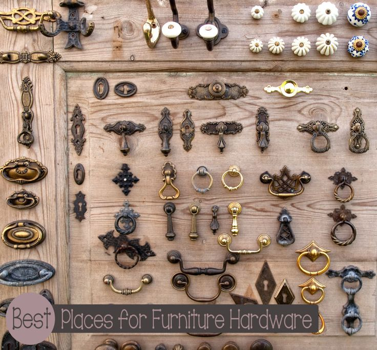 7 {Inexpensive} Places To Buy Furniture Hardware