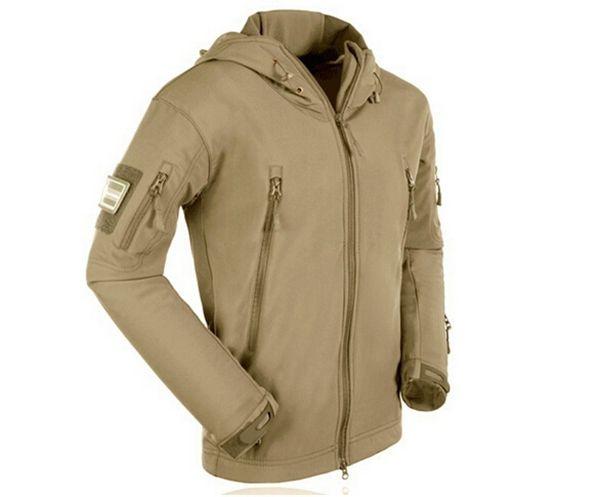 Fashion Men Outdoor Soft Shell Wind Mountain Parka Fleece Jacket - US$32.99