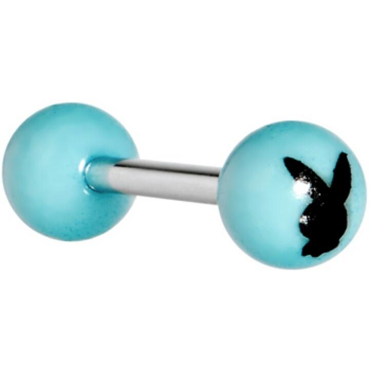 Playboy bunny tongue ring