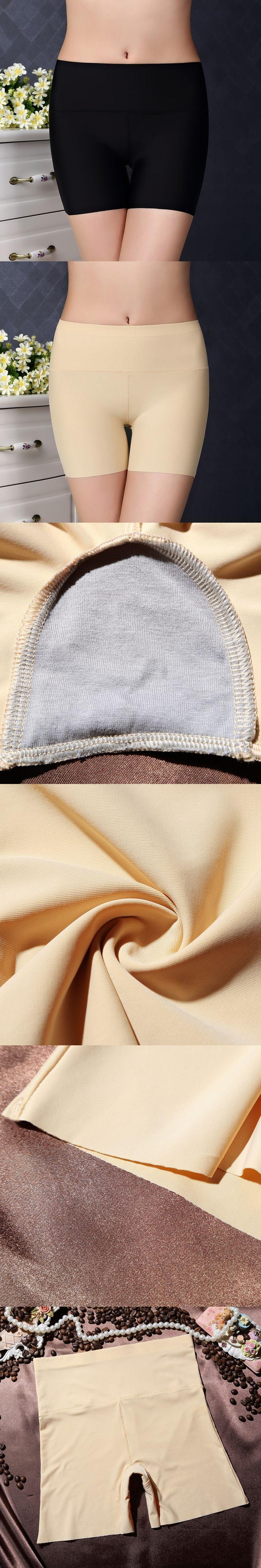Boyshort Ice Silk Panties Safety pants Women Seamless Women briefs Fashion classic comfortable Underwear For Women Underpants