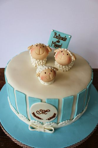 Christening Cake - love the sheep!