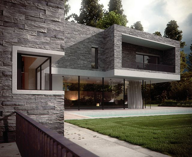 Facades Of Modern House On Pinterest Concrete Walls House And