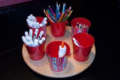 Cute and Cheap Art Supply Organizer — See Jamie blog