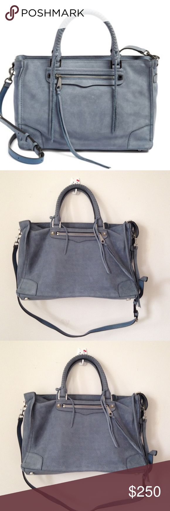 ‼SUNDAY SALE‼ Rebecca Minkoff Regan Satchel Bag Beautiful Regan Satchel from Rebecca Minkoff in lovely light blue suede leather. Large size. In great shape with some light scuffs on suede leather. Comes with detachable long strap. Rebecca Minkoff Bags Satchels