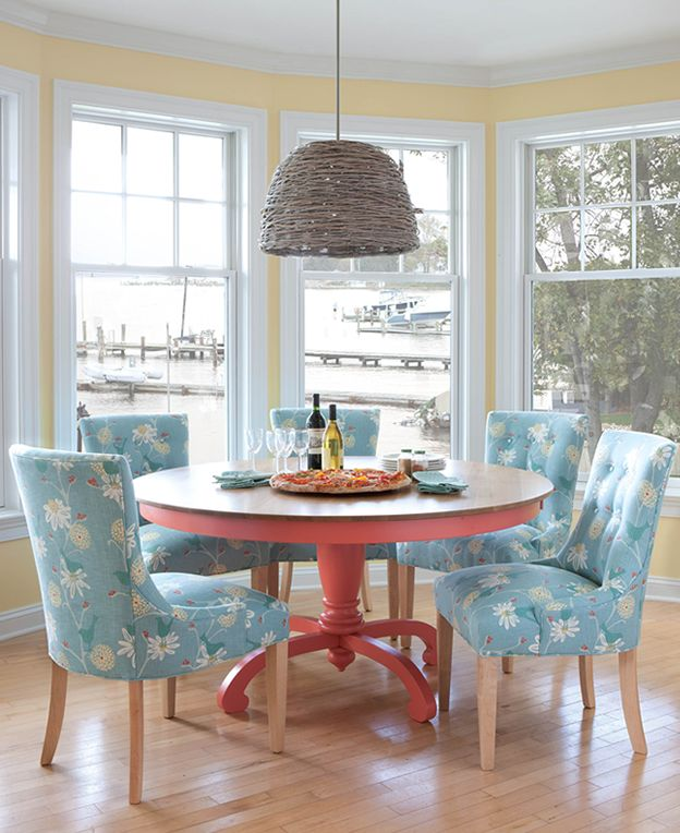 Beach Style Kitchen Table And Chairs Movie For Sale Coastal Dining Room Maine Cottage Colorfulfurniture Rooms Pinterest Furniture