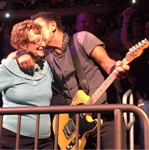 Bruce Springsteen dances with his 90-year-old mom at concert -- See the sweet moment