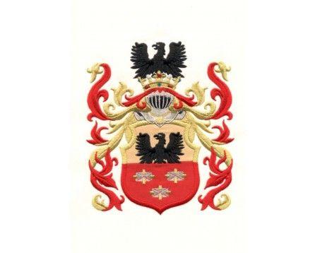 Herb rodowy/herb szlachecki SULIMA - coat of arms - AHA STUDIO Pracownia Haftu Artystycznego   HAFT ARTYSTYCZNY -HERBY, SZTANDARY, PROPORCZYKI  cena 250 zł.   ZAMÓW