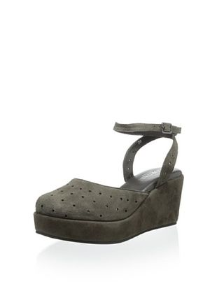 60% OFF Cordani Women's Dina Ankle Strap Wedge (Grey Suede)