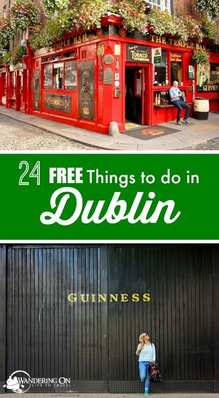 """Travel plans in the capital city of Ireland? Check out our post """"24 Free Things to Do in Dublin"""" for all the must see attractions and what to do in Dublin on a budget."""