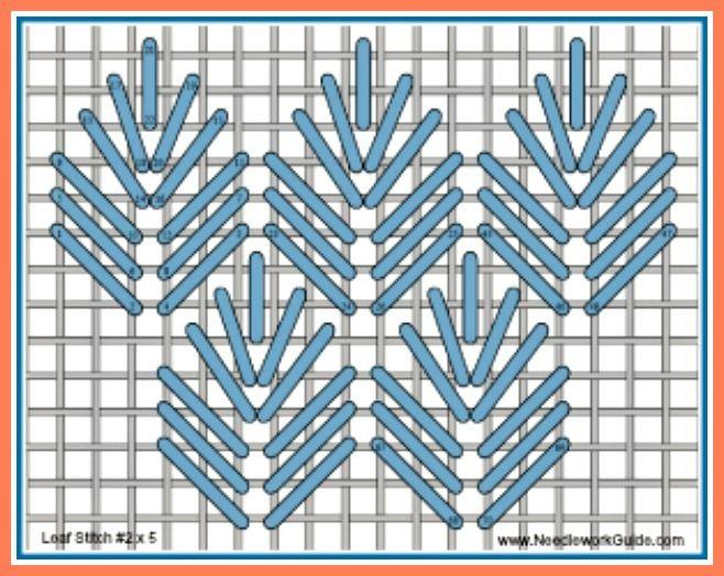 Leaf Stitch No 2 x 5 #NeedlepointStitch