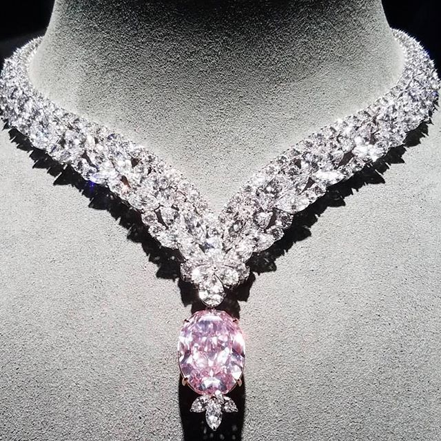 "Incredible 30 carat natural pink diamond ""Juliet Pink Diamond"" #naturalhistorymuseum (=)"