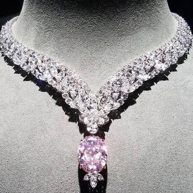 "Incredible 30 carat natural pink diamond ""Juliet Pink Diamond"" #naturalhistorymuseum (=)"