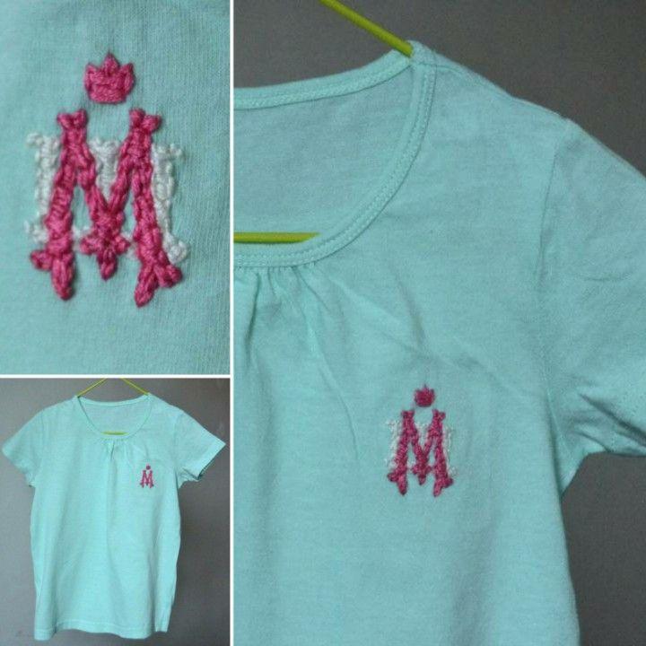 Embroidery with monogram. Майка с вышивкой-монограммой