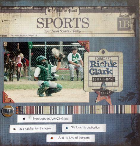 sports scrapbooking layouts images | scrapbook sports layouts - | scrapbook pages