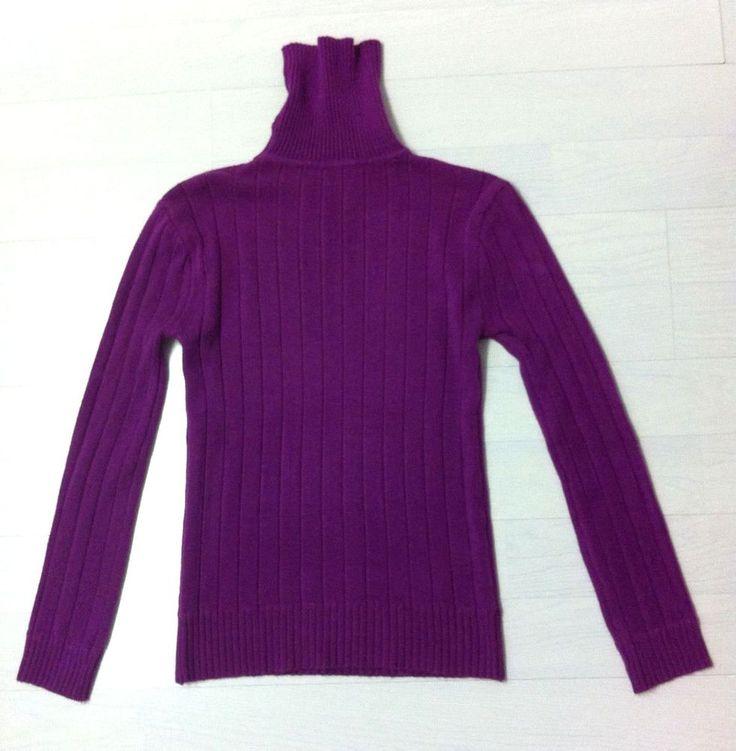 Ladies Beautiful MAGENTA Polo-Neck Jumper UK Size XL. Excellent condition. GAN.