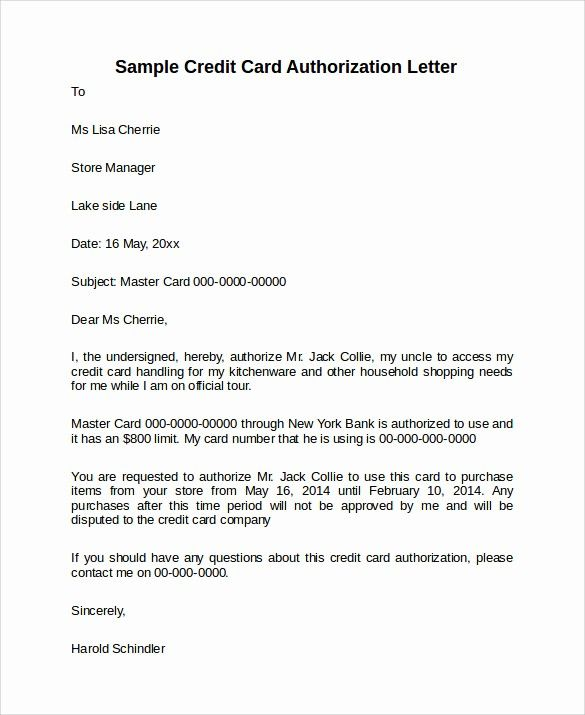 Credit Card Authorization Letter Template Inspirational 10 Credit Card Authorization Letters To Download Credit Card Lettering Lettering Download