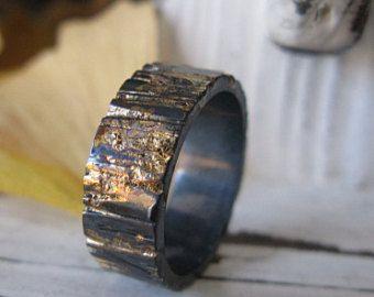 Mens palladium wedding band mens wedding ring by metalicious